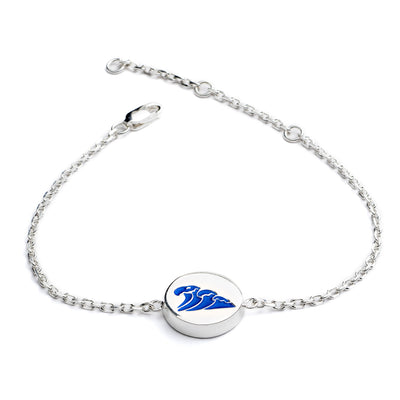 Luxury Festival  Sterling Silver Water Feline Spirit Chain bracelet