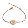 18ct Rose Gold Vermeil Sun Feline Spirit chain bracelet
