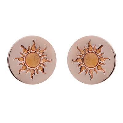 18ct Rose Gold Vermeil Sun Feline Spirit Earrings