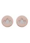 18ct Rose Gold Vermeil  Earth Feline Spirit Stud Earrings