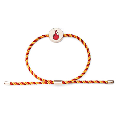 18ct Rose Gold Vermeil  Fire Feline Spirit cord bracelet