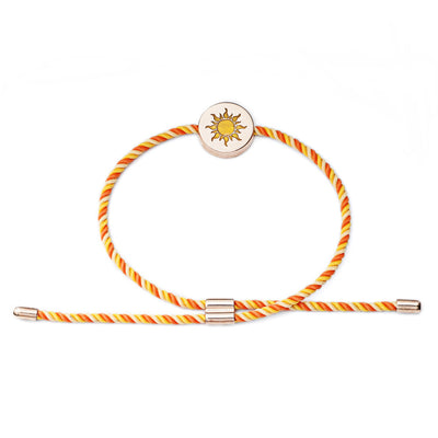 18 ct Rose Gold Vermeil Sun Feline Spirit Luxury Cord bracelet