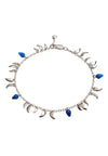 Sterling Silver  Flickering Flame  Blue stone Fire  Bracelet