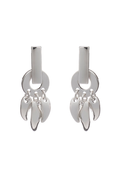 Glittering Sterling Silver Roaring Flame  Fire Earrings- small