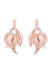 18ct Rose Gold Vermeil on Sterling Silver Roaring Flame  Fire Earrings-  Large