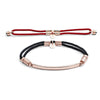 18ct Rose Gold Vermeil Interchangeable Bracelet - Fiery Red and Billowing Black