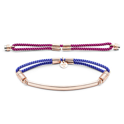 18ct Rose Gold Vermeil Interchangeable Bracelet - Hot Pink and Vivid Violet