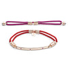Rose Gold Interchangeable Bracelet with Rubies - Hot Pink and Fiery Red