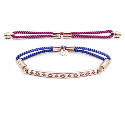 Cynthia Hot Pink or Vivid Violet Interchangeable Cord with 18 ct Rose Gold Ends