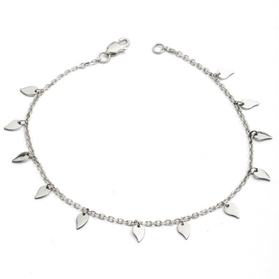Sterling Silver Small Leaf Bracelet