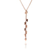 Hand polished 18ct Rose Gold Vermeil Leaf Dangle Pendant Necklace
