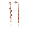 Elegant Handpolished 18ct Rose Gold Vermeil  Dangle Leaf Earrings