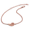 18ct Rose Gold Vermeil Paisley Filigree Bracelet