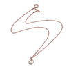 18ct Rose Gold Vermeil  Paisley Bulb Pendant Necklace