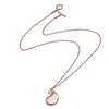 Solid 18ct Rose Gold Vermeil Paisley Large Bulb Pendant Necklace