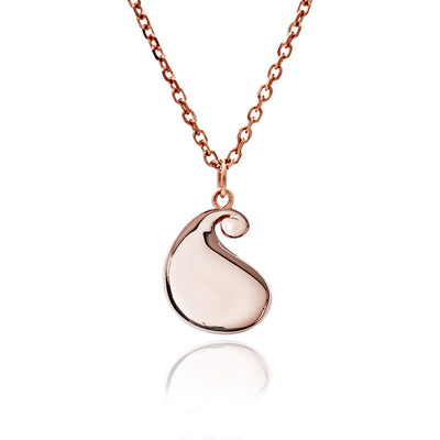 Rose Gold Paisley Large Bulb Pendant