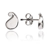 Solid 925 Sterling Silver Paisley Stud Earrings