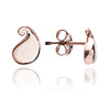 Solid 18ct Rose Gold  Vermeil Paisley Stud Earrings
