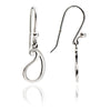 925 Sterling Silver Paisley Silhouette Charm Drop Earrings