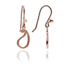 18ct Rose Gold Vermeil  Paisley Silhouette Charm  Drop Earrings