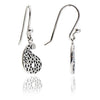 Sterling Silver Paisley Filigree Charm  Drop Earrings