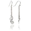 Sterling Silver Paisley Charm Dangle Earrings