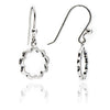 Women's 925 Sterling Silver  Floral Silhouette Paisley Charm  Earrings
