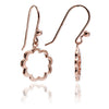 Rose Gold Floral Silhouette Paisley Earrings