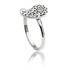 Womens Contemporary Sterling Silver Paisley Ring