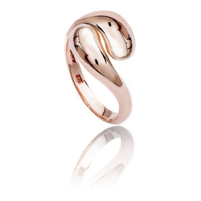 Womens Contemporary 18ct Rose Gold  Vermeil Double Paisley Ring