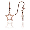 Glittering 18ct Rose Gold Vermeil Silhouette Star Drop Earrings