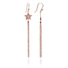 18ct Rose Gold Vermeil Star Tassel Earrings