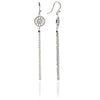 Silver Jaguar Head Circular Tassel Earrings