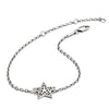 Sterling Silver Filigree Star  Charm Bracelet