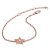 18ct Rose Gold Vermeil  Filigree Charm  Star Bracelet