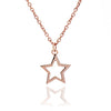 18ct Rose Gold Vermeil Silhouette Charm Star Pendant Necklace