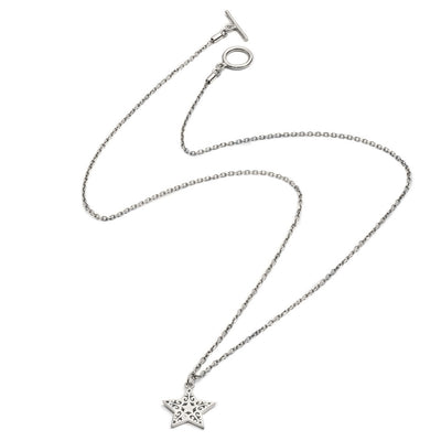 Sterling Silver Filgree Star Pendant Necklace