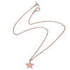 18ct Rose Gold Vermeil  Filigree Star Charm  Pendant Necklace