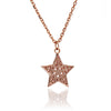 18ct Rose Gold Vermeil  Filigree Star Charm  Pendant