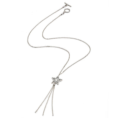 Sterling Silver Tassel Star Necklace