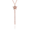 18ct Rose Gold Vermeil Tassel Star Necklace
