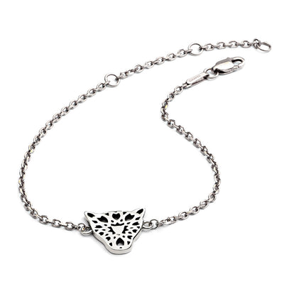 Sterling Silver Filigree Jaguar Head Bracelet