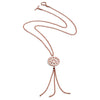 Rose Gold Circular Filigree Jaguar Tassel Necklace