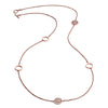 18ct Rose Gold  Vermeil Circular Filigree Five Charm Jaguar Head Necklace As Worn By Rosie Fortescue of Made in Chelsea