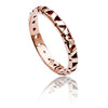 Exotic Unisex  18ct Rose Gold Vermeil Jaguar Lattice Ring