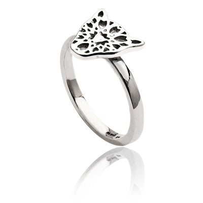 Womens Exotic Sterling Silver Filigree Jaguar Head Ring