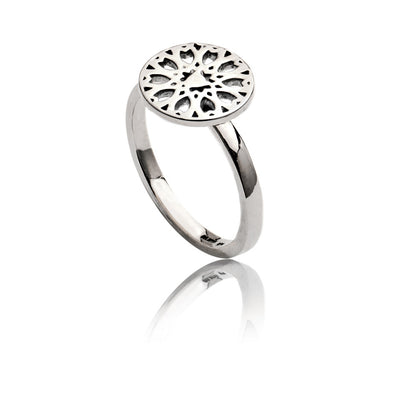 Womens Exotic 925 Sterling Silver Circular Jaguar Filigree Ring