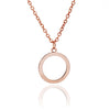 18ct Rose Gold Vermeil Circular Jaguar Pendant Necklace