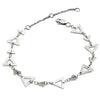 Dainty Sterling Silver Silhouette Charm Triangle Bracelet
