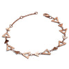 18ct Rose Gold Vermeil Triangle Hole Bracelet